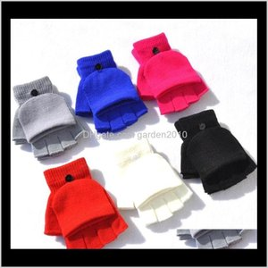 Party Favor For Girls Women Knitted Winter Top Gloves Student Warm Half Finger Mittens Homeware T2C5168 Umj0W Ir9M0