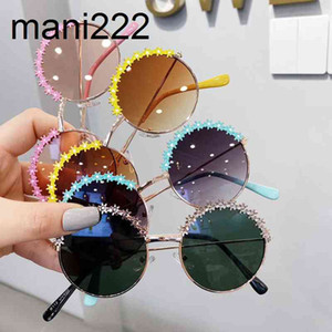 النظارات الشمسية 2021 الاطفال الملونة جولة الفتيات الصغيرات