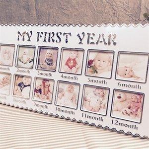 Recém-nascido 12 meses Bebê Crescimento Memorial Photo Petrolete Meu primeiro ano Presente de Aniversário Casa Decoração da Parede Drop 884 v2