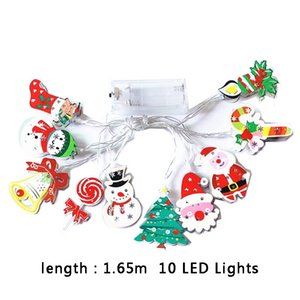 Christmas LED Light String Snowman Xmas Tree Santa Claus 1.65m 10 LED Lights Outdoor Christmas Lighting Party Decoration 11 Styles BC BH4238