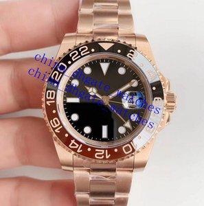 China_dhgate_watches BP LuxuryWatch الأزياء ووتش GMT 40 ملليمتر رجالي الساعات الميكانيكية 2813 السيراميك الأسود الحافة التلقائي حركة الرياضة مصمم المعصم