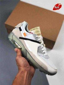 2021 Autêntica Original 90 Off Desert Ole Gelo Sapatos Ao Ar Livre para Mens 90s Preto Branco Moda Treinadores Esportivos Sneakers com caixa