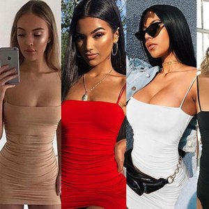 Strap Mini Sexy Backless Cross Womens Dresses Bandage BodyCon Party Pleated Stretch Short Club