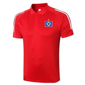 2021 Hamburger SV Futbol Polo Gömlek Futbol Eğitimi Polos Spor Formaları Yetişkin Futbol Kısa Kollu Polos Yaz T-Shirt Giyim erkek Polos