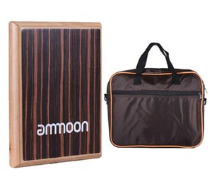 Compact Travel Box Flat Hand Cajon Drum sets with Adjustable Strings Carrying Bag
