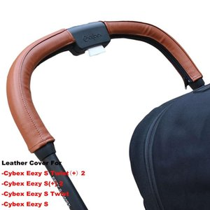Leather HandleCover Compatible With Cybex Eezy S Twist (+) 2 Eezy 2 Stroller Pram Sleeve Case Cover Accessories Parts &