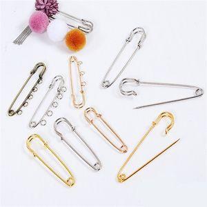 20 stücke Sicherheitsbrosche Pins Basiszubehör für DIY Schmuckherstellung 55/70/75mm Hochzeitsstrauß Weihnachten Brosche Findings Lieferant 1512 V2