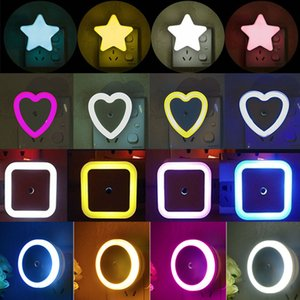 LED Night Light Mini Cute Wall Plug-in Auto Sensor Bedside Lamp For Bedroom Kid's Room Hallway Corridor Stairs EU US 110V 220V