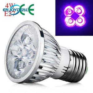 Bulbs LED Grow Light 4W E27 Base UV Spotlight Plant Lamp Bulb Ultraviolet Home AC 85-265V