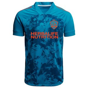 Mens T-Shirts LA Galaxy Blue 2021 Primeblue Jersey Parley Football shirt Short sleeve soccer Jerseys Running sports Print T-Shirt Size S-4XL