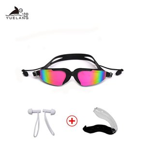 Swimming Goggles Professional Silicone Swimming Goggles Uv Swimming Glasses With Earplug For Men Women Water Sports bbyRWH