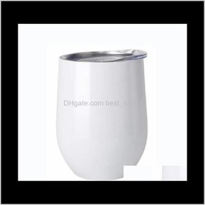 Tumblers Diy Sublimation Egg Shaped Double Walled Stainless Steel Thermos Vacuum Insulated Cups 12Oz Wine Tumbler Sea Mzrm2 Qjyp2