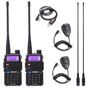 1 / 2pcs Baofeng UV-5R 듀얼 밴드 VHF / UHF136-174MHZ400-520MHz WALKIE TAMIE 양방향 라디오 핸드 헬드 UV5R 햄 휴대용