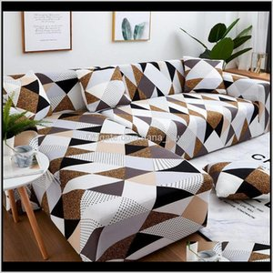 Chair Covers Sashes Textiles Home & Garden Drop Delivery 2021 Set Geometric Couch Cover Elastic Sofa For Living Room Pets Corner L Shaped Cha