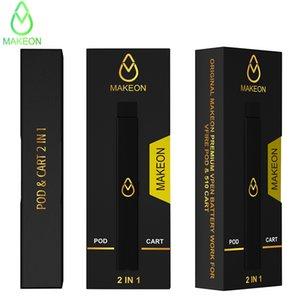 Makeon Vpen Vfire 포드 배터리 450mAh 전자 담배 펜 빈 미니 포드 및 카트 OEM 브랜드 로고