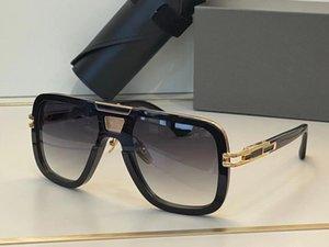 Men Sunglasses For GN BEM Summer style Anti-Ultraviolet Retro Plate Rectangle Invisible frame fashion Eyeglasses Random Box