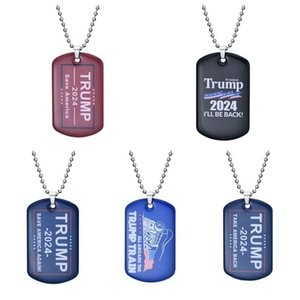2024 Trump Keychain Party Supplies US President Election Flag Pendant Save America Again Stainless Steel Tags I'll Be Back Keyring CYZ3260