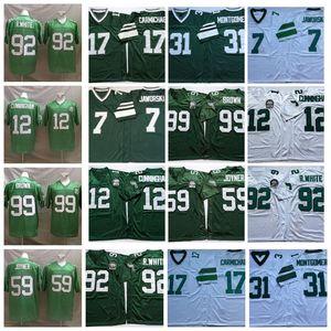 Vintage 92 Reggie White Football Jerseys 12 Randall Cunningham 7 Ron Jaworski 17 Harold Carmichael 31 Montgomery Joyner 99 Jerome Borwn FiladelfiaÁguilaHombres