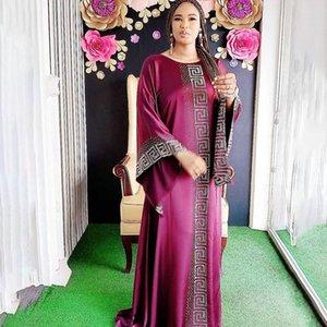 Dashiki Elbise Ipek Boncuk Abaya Dubai Maxi Bazin Afrika Tasarım Vintage Uzun Kollu Robe Abiye Afrika Seksi Bayan Parti