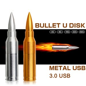 3.0 USB flash drive gun cartoon bullet metal u disk 64GB free custom Logo exclusive engraved game boys giftDIY playerunknown's battlegrounds