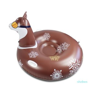 Snow Rider Skate Fun Inflatable Ride Sled Dog Thicken Snow Skiing Boards Sledge Ski Tube Winter Sports Toys DHL Delivery 7 Days