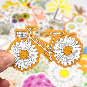 Pcs Daisy 50 Leuke Bloem Anime Stickers Voor Laptop Skateboard Gitaar Bagage Fiets Motor Auto Decal Waterdicht Sticker 6829