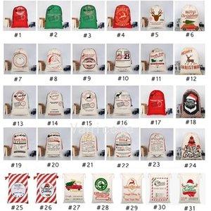 31 styles Christmas Gift Bags Xmas Bag Drawstring BagWith Reindeers Santas Claus Sacks BagsFor Santa Sack kid Bag4649