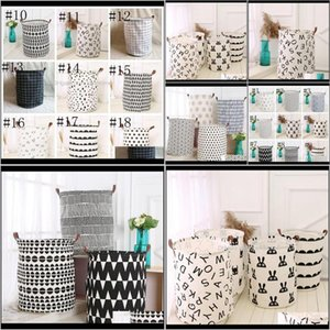 Boxes Storage# Decor Nursery Store Baby, & Maternity Drop Delivery 2021 Ins Folding Baskets Kids Toys Storage Bucket Doll Clothing Organizer