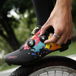أحذية ركوب الدراجات MTB الأحذية المهنية دراجة رياضية الرجال الذاتي قفل الطريق دراجة sapatilha ciclismo النساء أحذية رياضية