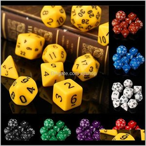 Outdoor Activities 10Pcs Set Polyhedral Dungeons Dragons Daggerdale For Dnd Mtg Rpg Poly Board Games Gathering Toy With Dice Bag Oc56U Tmexu