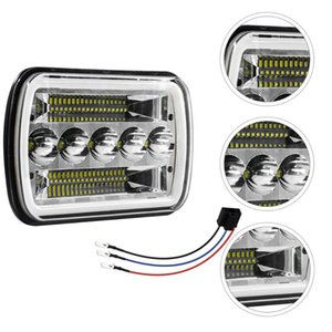 1Pc Waterproof LED Headlight Durable Headlamp Square For Car Truck Headlights