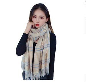 Magic Scarves autumn and winter wool shawl women's medium thick warm cashmere like scarf lattice spot wholesale