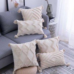 Cushion Decorative Pillow Cushion Cover Decorative Pillows Case Nordic Style Geometric Tufted Striped Home Decor Sofa Chair Bedding Pillowca