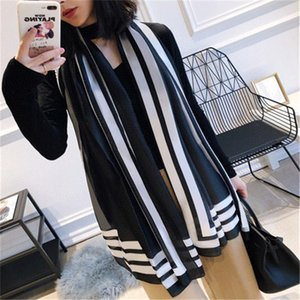 New womens senior long Single layer chiffon silk shawls Fashion tourism soft Designer luxury gift scarves printing Scarf Size90-180cm