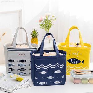 Box Thermal Leisure Convenient Oxford Lunch Waterproof Bag Cute Fish Picnic Handbag for Women Kids Men