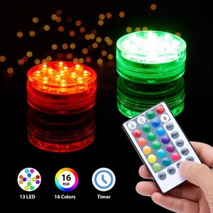 Submersible Light Waterproof Colorful Remote Control Portable Night Lamp With Magnet Cup For Pond Swimming Pool Garden Underwater Lights