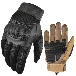 Cycling Gloves Touch Screen Hard Knuckle Tactical PU Leather Army Military Combat Sports Men's Hunting Swat XA88Q