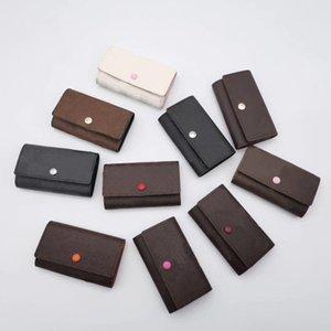 2021 High Quality Keys holder bags wallets original box case buckle chains women men classic fashion #20