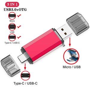 USB3.0 Type-C metal usb flash drives pendrive 16GB 32GB 64GB 128GB key stick pen drive