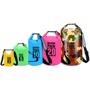 2021 Outdoor waterproof bag One - shoulder bucket with PVC mesh cloth beach swimming Leisure travel sports bags