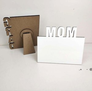 Blank Sublimation Frames Wooden Thermal Transfer Phase Plate MOM Personalized Gift Mothers Day Festival Frame EWE6006