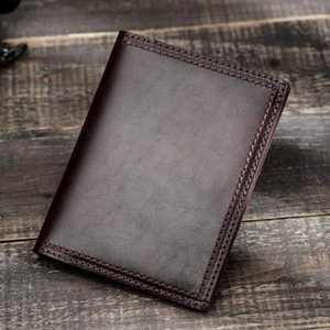 Card Holders High Quality Genuine Leather Men Passport Cover Travel Slim Mens Case Business Retro Women Credit ID Holder Wallet