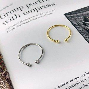 Jazaz coreano reale 925 argento sterling argento minimalista doppio tallone anello di dito anello per donne chic gioielli di gioielli accessori cluster anelli