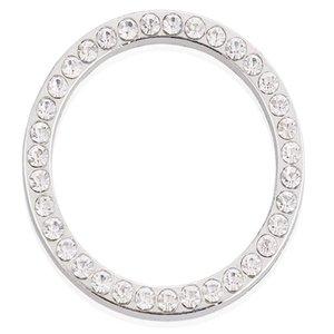 Auto Innendekoration Automobile Zubehör Ring Emblem Aufkleber Start Engine Switch Button Tastenknöpfe Diamant Kreis Kostenloser DHL