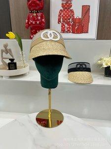 Kapaklar Moda Kap Xiaoxiang Sağ Versiyon ~ 21 Çift C Hasır Şapka Kadın Yaz Sunshade Tatil için
