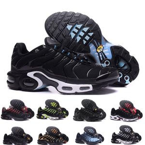 2021 TN Artı Ayakkabı Erkek Koşu Ayakkabı Eğitmenler Chaussures Gezi Beyaz Siyah Hiper Mavi Yeşil Bayan Hava Yastık TN Sneakers Erkekler Spor Boyutu 36-45