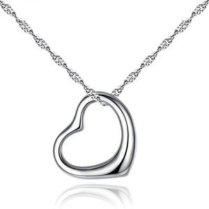 Fashion Hollow Out Heart-Shaped Clavicle Necklace Elegant Women Wedding Choker Chain Pendant Gifts For The Year Jewellery Necklaces
