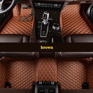 Upgrade leather car floor mats for GMC Terrain Chevrolet Chevy Equinox foot Pads automobile carpet covers