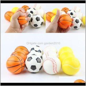 Items Décor Home Garden Drop Delivery 2021 Baseball Soccer Basketball Toy Sponge Balls 6Dot3Cm Soft Pu Foam Ball Fidget Relief Novelty Sport