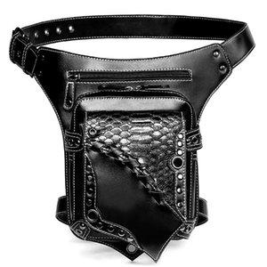 Waist Bags Brand Women's Packs For Men's Punk Motorcycle Style Crossbody Luxury Ladies Biker Leather Shoulder Bag High Quality